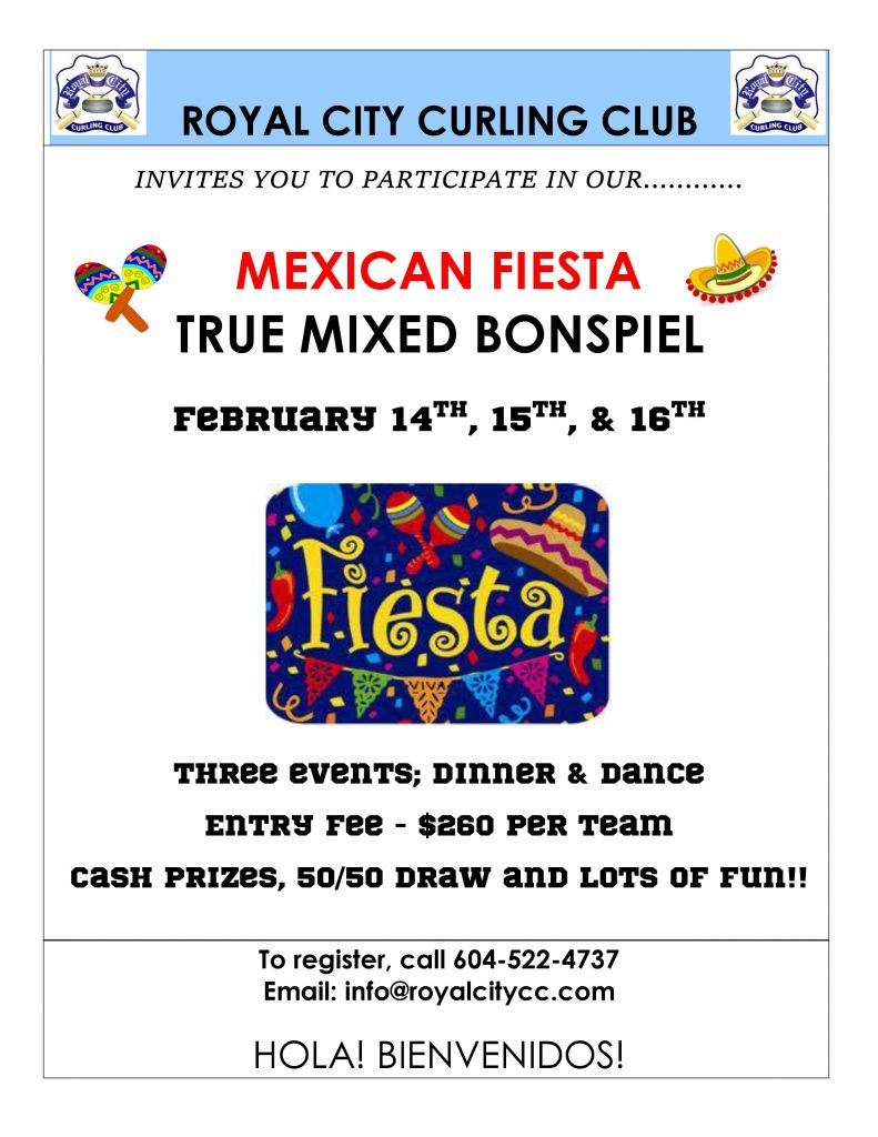 Mexican Fiesta True Mixed Bonspiel  Come and sign up!